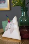 Mini Unicórnio Crystal Rainbow Decorativo