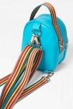 Mochila Shoulder Azul c/ Alça Listrada