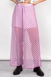 Pantalona Tule Checkerboard Lilás
