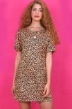 Vestido T-shirt Dress Malha Oncinha