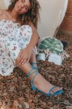 Sandália Tiras Naked Azul