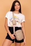 Shoulder Bag Multi Taupe c/ Níquel