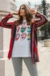 T-shirt Branca Rolling Stones