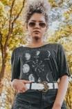 Camiseta T-shirt Fases da Lua MOON