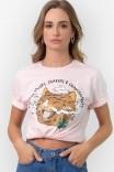 Camiseta T-shirt Smoking Gato