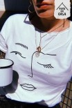Camiseta T-shirt Off Esquisses Rosto