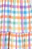 Vestido Camadas Bufante Xadrez Candy
