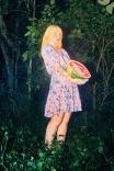 Vestido Curto Bufante Jardim dos Cogumelos
