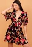 Vestido Floral Com Nó