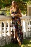 Vestido Jersey Floral Jardim