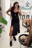 Vestido Midi Amarração Black