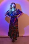 Vestido Ombro Floral Luau