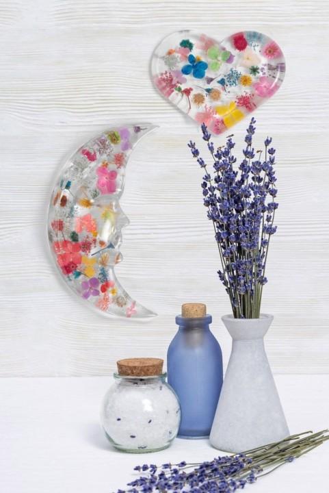 Adorno Decor Coração Com Flores