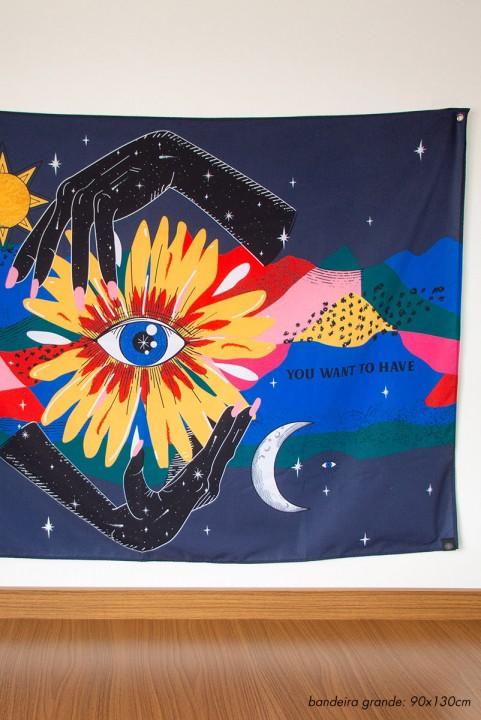 Bandeira De Parede Florescer Mãos