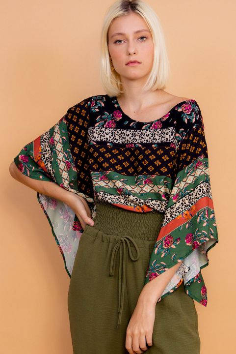 Blusa Ampla Patchwork Florence