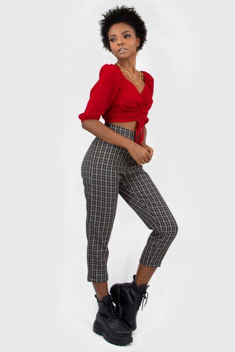 Blusa Drapeada Buf Vermelha
