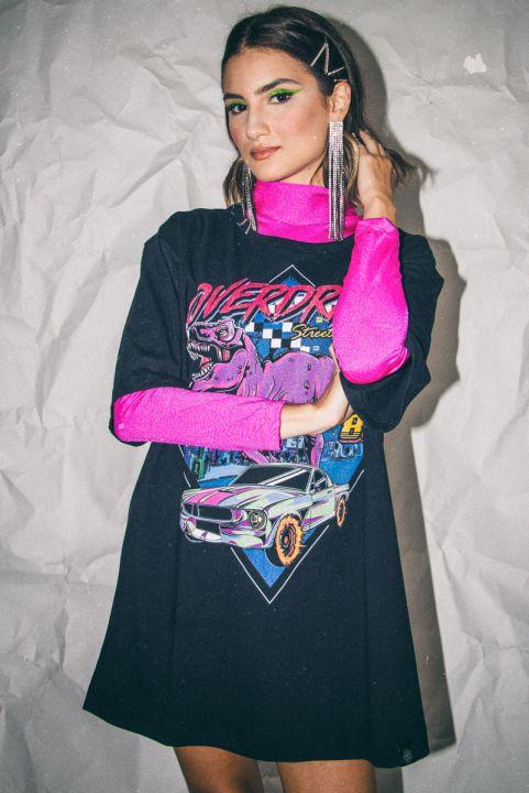 Blusa Gola Alta Neon Roxo