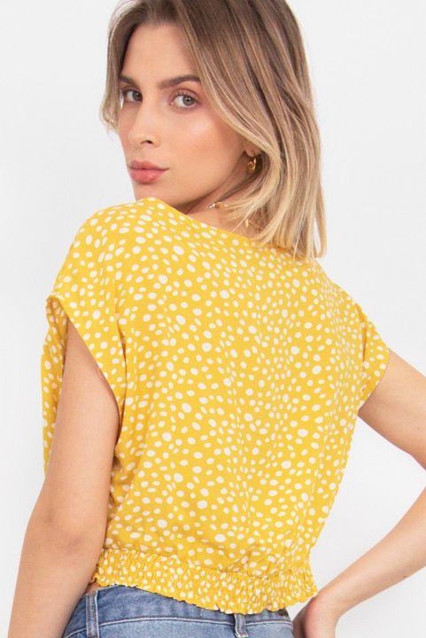 Blusa Poá Amarelo Lui