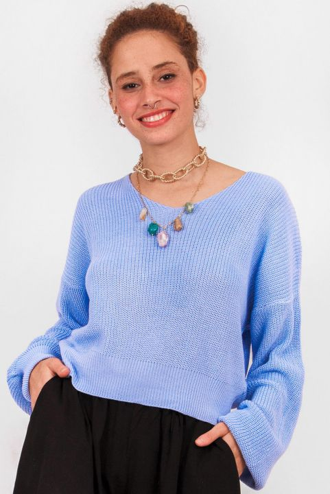 Blusa Tricot Nadia Azul