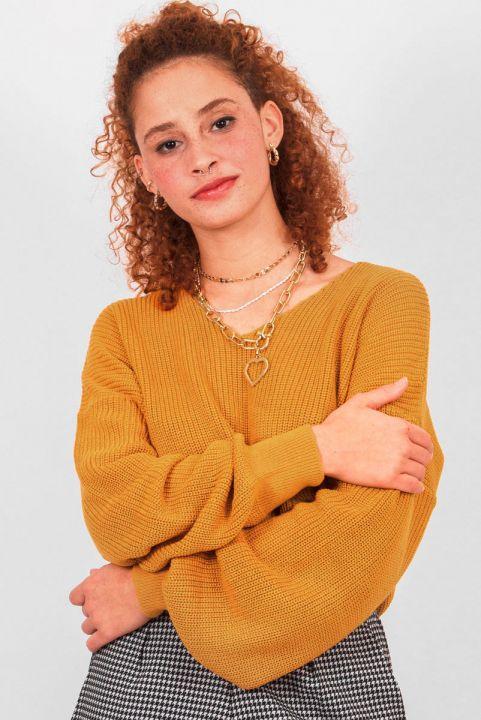 Blusa Tricot Nadia Mostarda