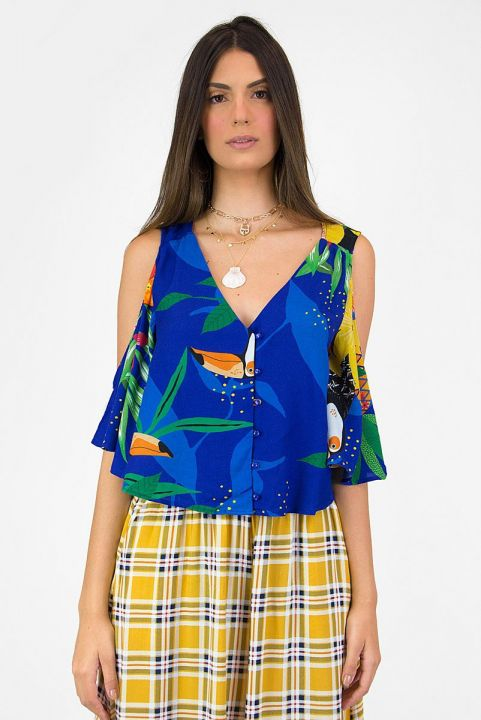 Blusa Tropicano Azul Bic