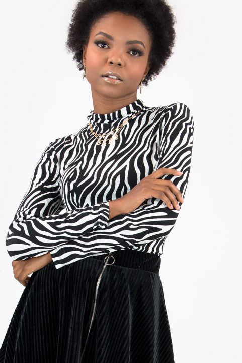 Blusa Turtleneck Zebra