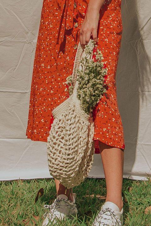 Bolsa Hobo Maxi Croche