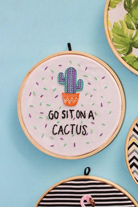 Bordado Decor Cactus