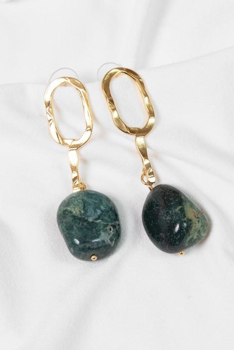 Brinco Pedra Natural Quartzo Verde