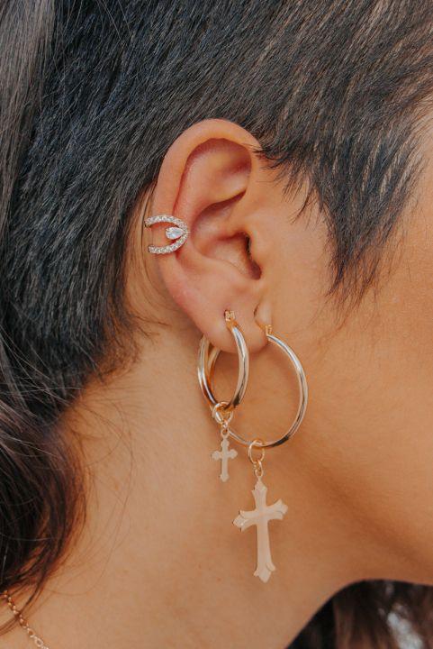 Brinco Piercing Ear cuff Garden