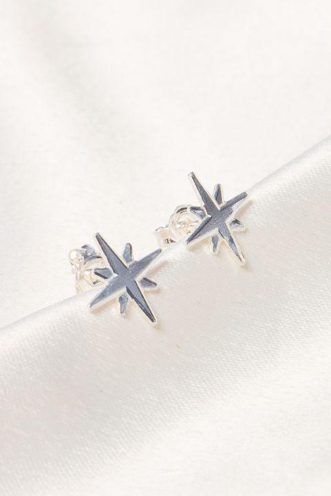 Brinco Prata 925 Estrela Estela