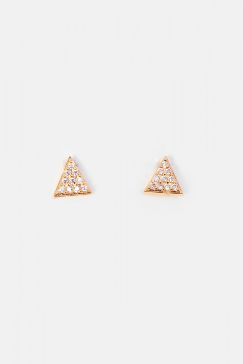 Brinco SJ Mini Triângulo Cravejado Lara