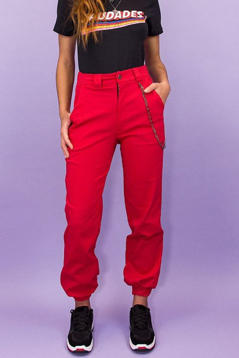 Calca Cargo Cloe RED