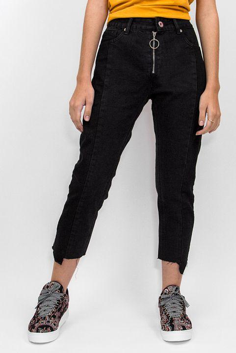 Calça Jeans Barra Assimetrica