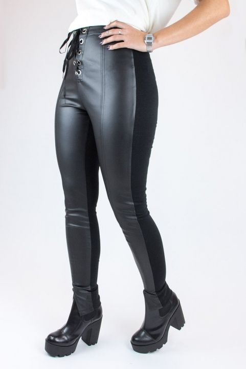Calça Legging Lace-Up Front Ilhos