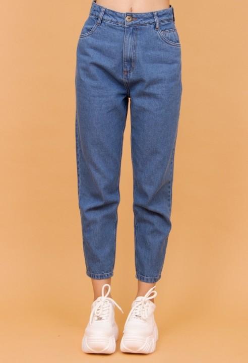 Calça Mom Jeans Azul Tradicional
