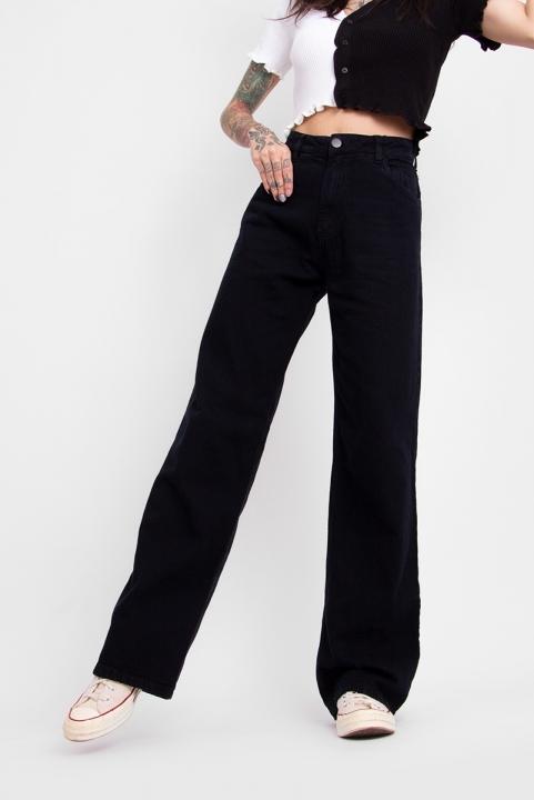 Calça Wide Leg Jeans Preto