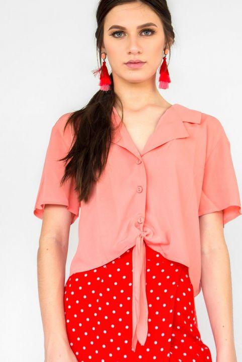 Camisa Crop Bay - Pessego