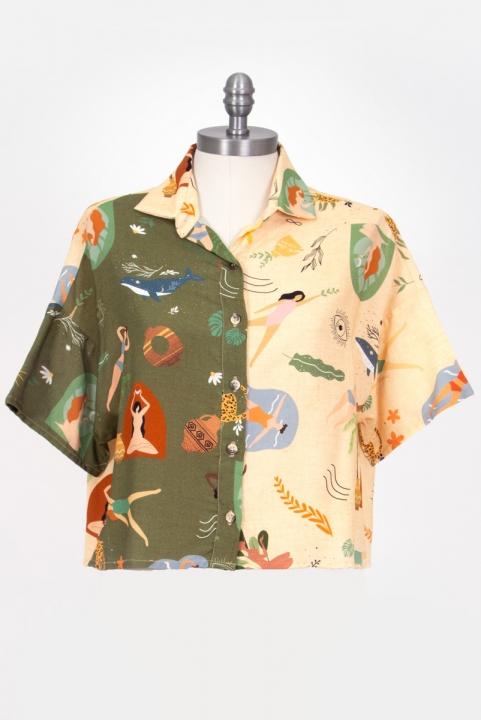 Camisa Elementar Meio a Meio