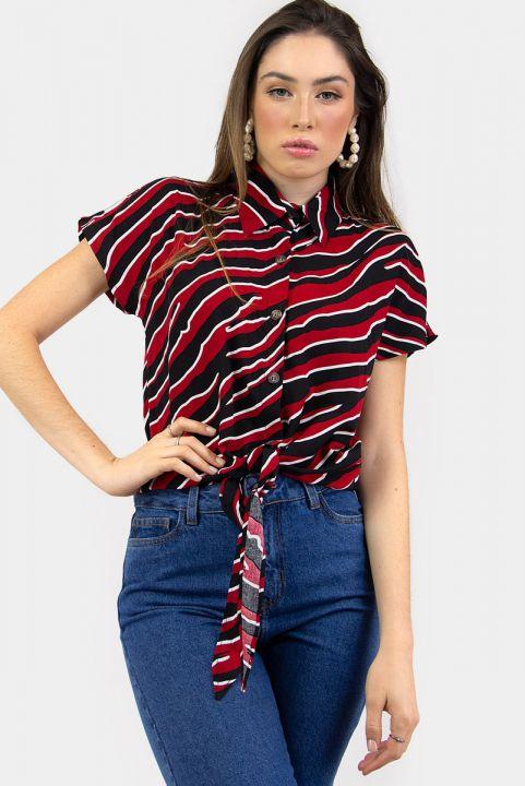 Camisa Red Zebra