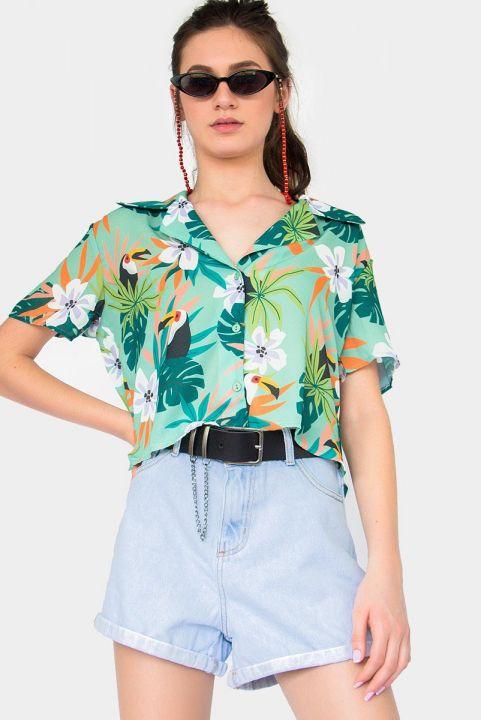 Camisa Tropical Tucano - Menta