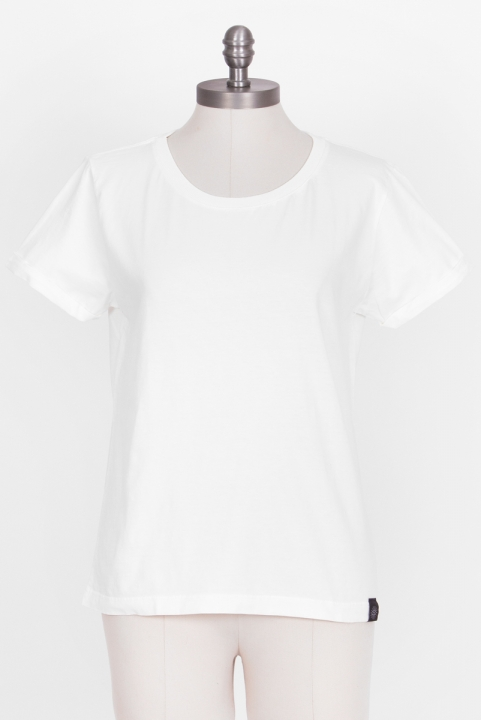 Camiseta Babylook Basic Off-White