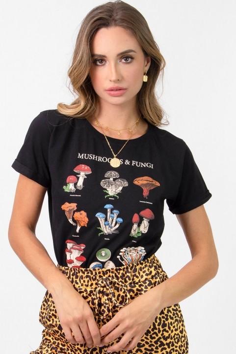 Camiseta Babylook Cogumelos