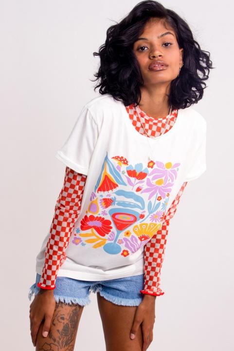 Camiseta Babylook Drink
