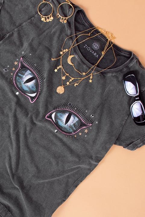Camiseta Babylook Glass Eye Olho