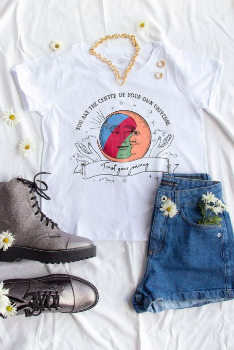 Camiseta Babylook Journey