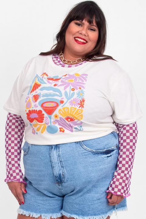 Camiseta Babylook PLUS Drink