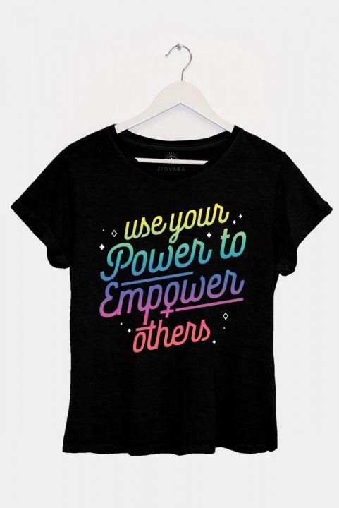 Camiseta Babylook PLUS Empower Degragê