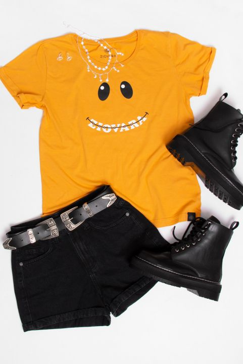 Camiseta Babylook PLUS Smile Fixo
