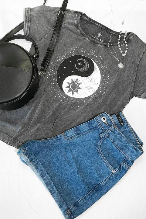 Camiseta Babylook PLUS Yin Yang